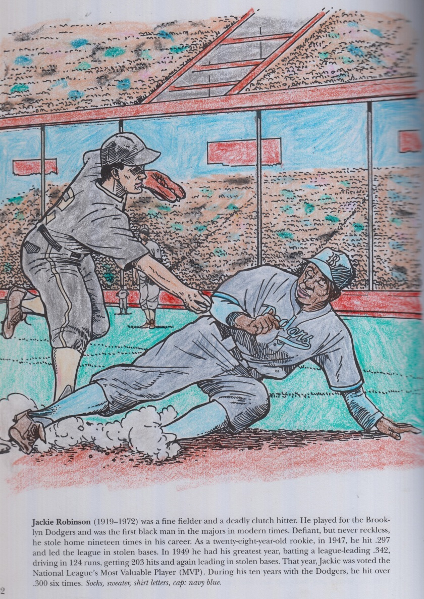 The legendary Brooklyn Dodger Jackie Robinson sliding into secondbase.jpg