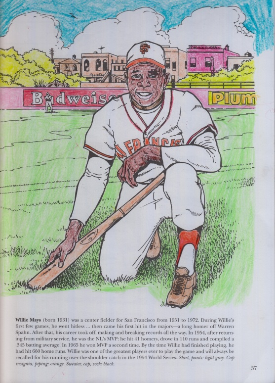 A coloring book picture of Hall of Fame Centerfielder and New York Giant Willie Mays.jpg