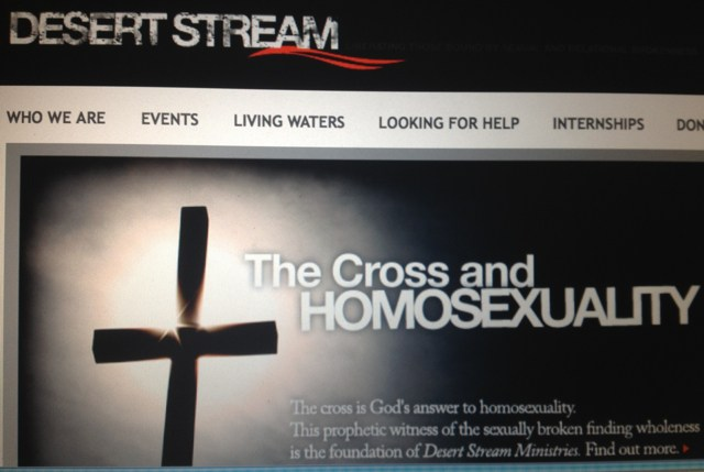 Screenshot of the Desert Stream Ministries website.